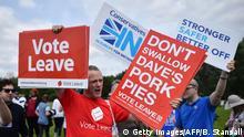 Großbritannien London Brexit Kampagne Vote to Leave