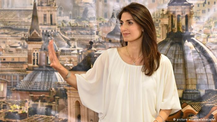 Picture of Rome's new mayor, Virginia Raggi Copyright: picture alliance/abaca/AA