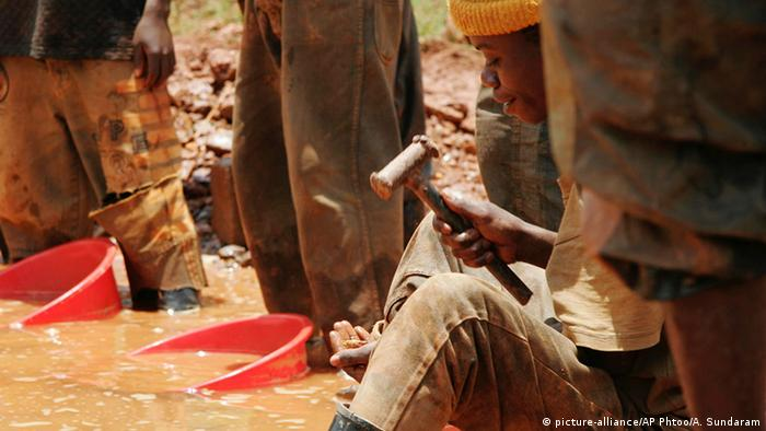 Afrika Kongo Goldgewinnung