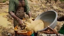 Afrika Kongo Goldgewinnung Tagebau
