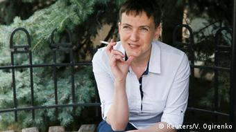 Ukrainian pilot and parliamentarian Nadiya Savchenko