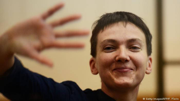 Надежда Савченко на суде