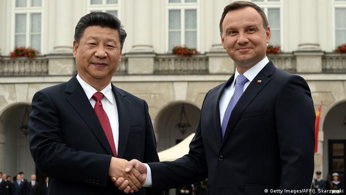 Polen Andrzej Duda empfängt Xi Jinping in Warschau (Getty Images/AFP/J. Skarzynski)