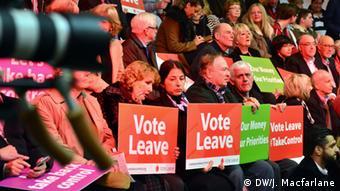 GB London Brexit Kampagne Vote Leave Schilder