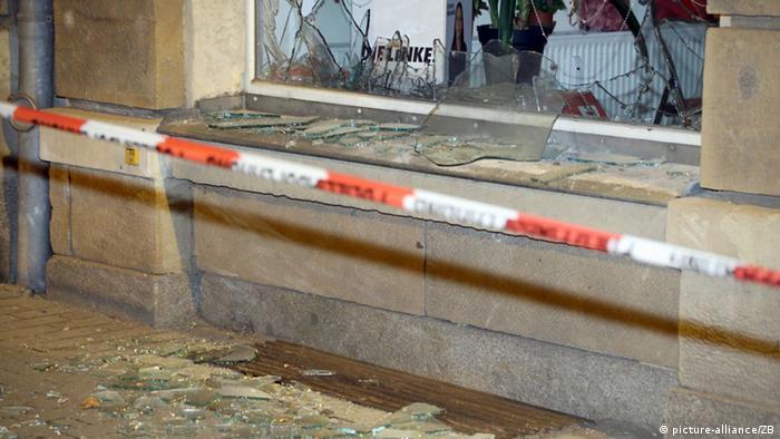 Deutschland Dresden Anschlag auf Lokalpolitiker Büro