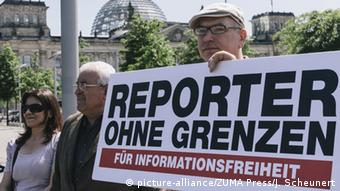Berlin Reporters Without Borders protest