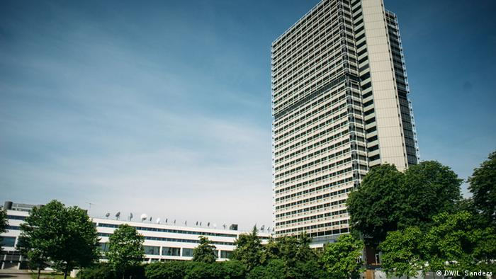 The buildings of the UN and Deutsche Welle