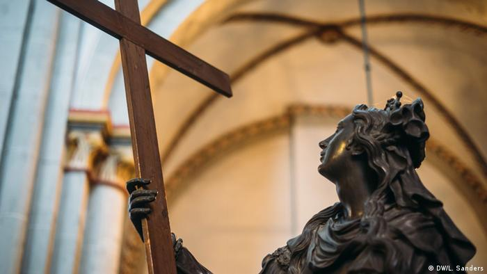 A statue of a saint in the Bonn Minster