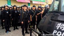 ++++++++++++++ 20.06.2016 +++++++++++++++++++ Policemen patrol at Wukan village in China's Guangdong province June 20, 2016. REUTERS/James Pomfret (c) Reuters/J. Pomfret