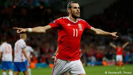 Frankreich Fußball-EM Russland vs. Wales Gareth Bale Jubel