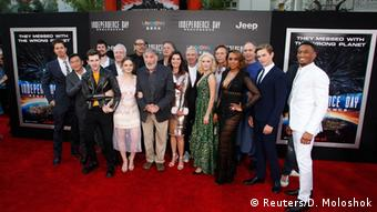 The cast of Independence Day: Resurgence at the world premiere, (c) Reuters/D. Moloshok