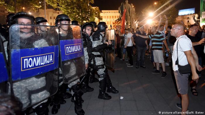 Mazedonien Skopje Anti-Regierungs Proteste