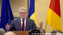 Rumänien Bukarest Joachim Gauck hält Rede
