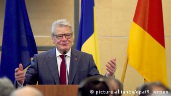 Joachim Gauck in Bucharest in Bucharest, Romania