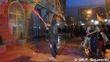 20.06 2016 *** Große Proteste in Skopje: Mehrere tausend Menschen demonstrieren gegen die Regierungspartei in Mazedonien DW-Reporter Petr Stojanovski in Skopje, 20.06 2016 © DW/P. Stojanovski