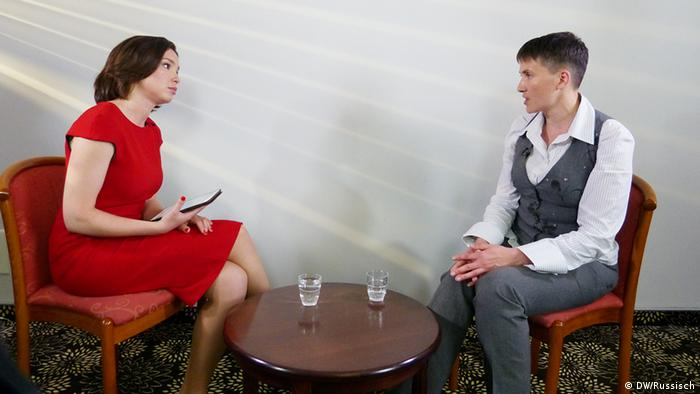 Жанна Немцова и Надежда Савченко