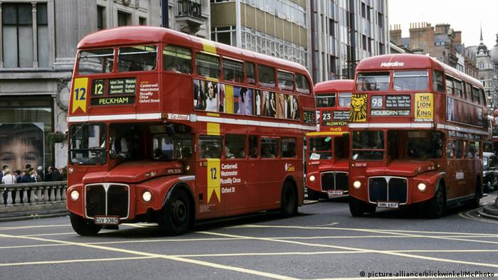 Großbritannien Doppeldecker-Busse in London
