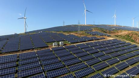 محطة للطاقة الشمسية في منطقة لويانع الصينية