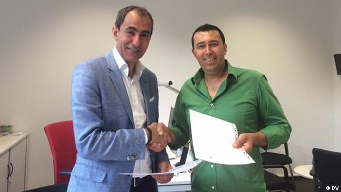 Yosri Fouda DW-Moderator DW-Kolumnist Naser Schruf Leiter Arabische Redaktion
