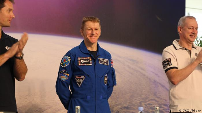 Tim Peake at an ESA press conference after his return from the ISS. (Photo: DW/ Zulfikar Abbany)