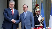 Frankreich Petro Poroschenko & Francois Hollande in Paris