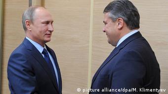 Встреча Путина и Габриэля в октябре 2015 года