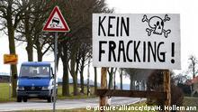 Deutschland Symbolbild Frecking Schild Kein Frecking