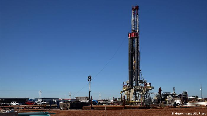 Gas fracking well