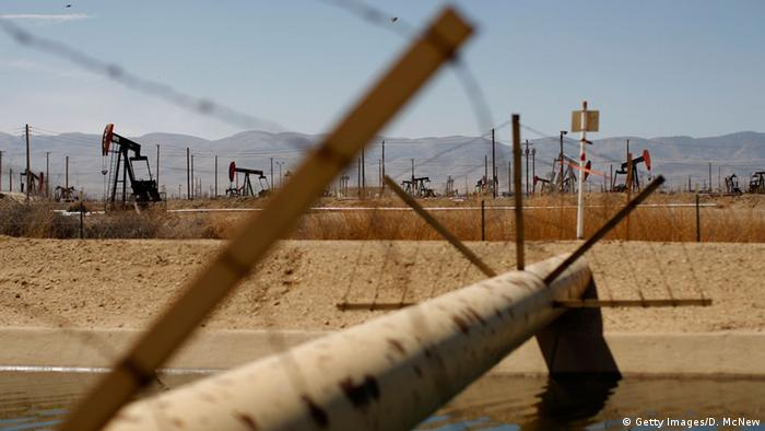 USA Fracking Bohrstelle Pipeline Gas Druck Leitung Kalifornien (Getty Images/D. McNew)