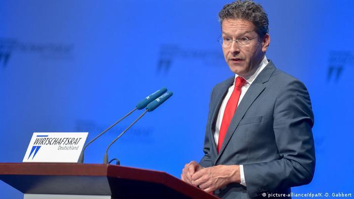 Deutschland Jeroen Dijsselbloem CDU Wirtschaftstag Wirtschaftsrat Berlin 2016 (picture-alliance/dpa/K.-D. Gabbert)