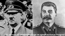 Bildkombo Hitler und Stalin