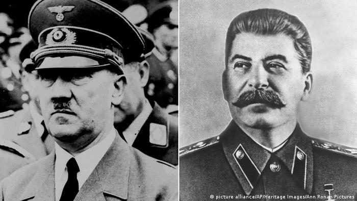Адольф Гітлер (Adolf Hitler) та Йосип Сталін (праворуч)