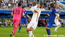 21.06.2016 Football Soccer - Croatia v Spain - EURO 2016 - Group D - Stade de Bordeaux, Bordeaux, France - 21/6/16 Spain's Alvaro Morata reacts REUTERS/Michael Dalder Livepic Copyright: Reuters/M. Dalder