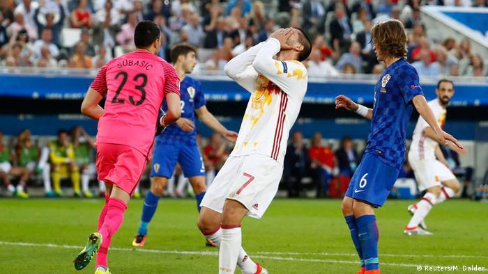 Frankreich Fußball-EM Spanien vs. Kroatien