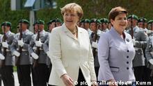 Deutschland Angela Merkel empfängt Beata Szydlo