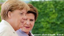 Deutschland Vertreter der polnischen und der deutschen Regierungen im Kanzleramt