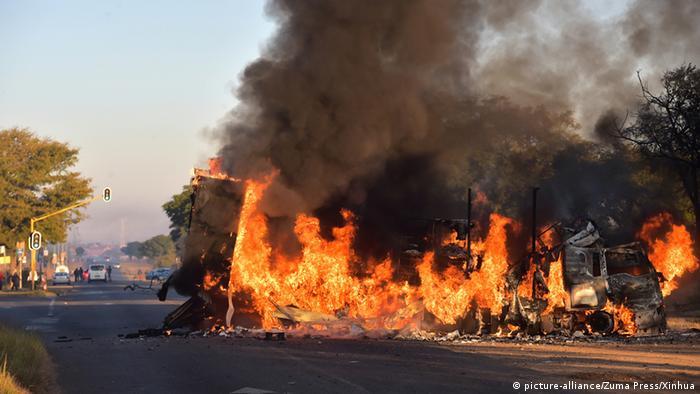 Protests outside of Pretoria