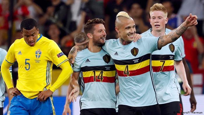 UEFA EURO 2016 Schweden vs Belgien +++ Torjubel Belgien