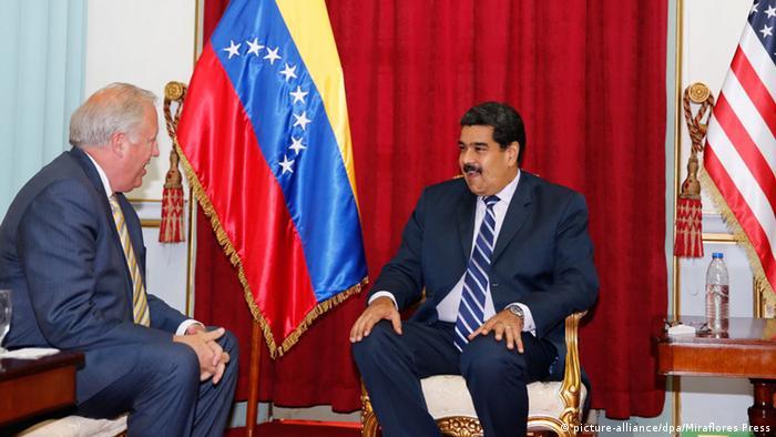 Venezuela Nicolas Maduro und Thomas Shannon Treffen