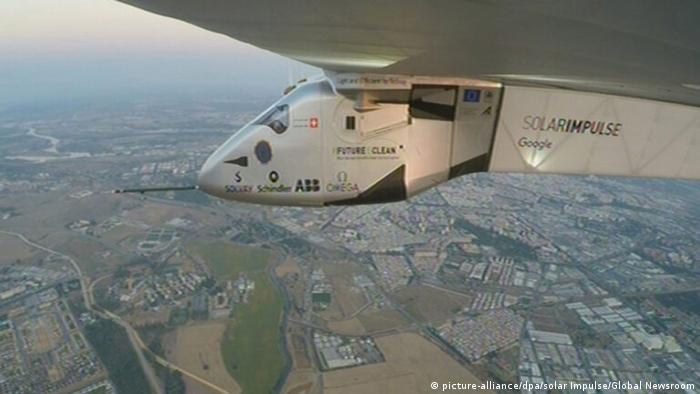 Solar Impulse Flug von New York nach Spanien