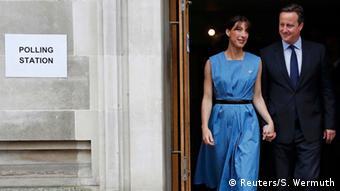 Großbritannien Brexit EU Referendum David Cameron und seine Frau