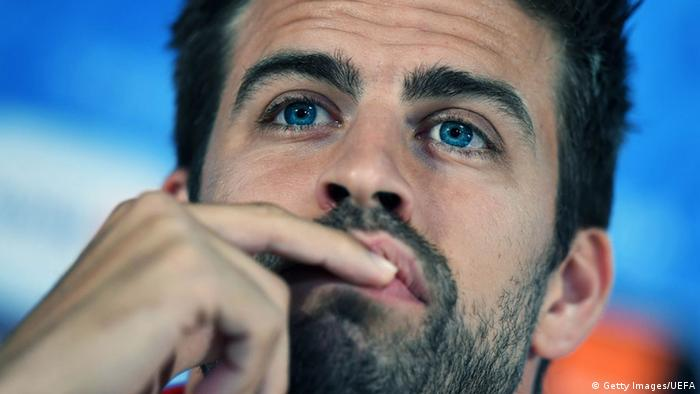 Fussballer Gerard Pique (Getty Images/UEFA)