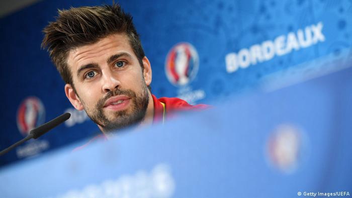 Der spanische Fußballer Gerard Piqué (Foto: Getty Images/UEFA)