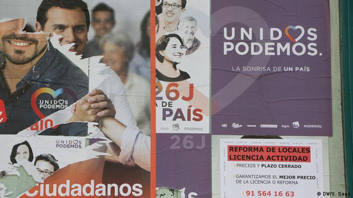Campaign posters on the streets of Madrid