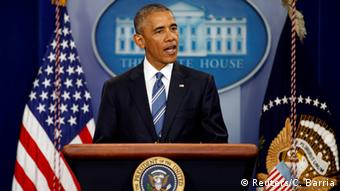 USA Präsident Barack Obama - Statement nach Entscheidung des Supreme Courts (Reuters/C. Barria)