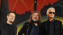 21.06.2016 epa05386332 (FILE) A file photo dated 21 September 2012 of members of British rock band Led- Zeppelin with (L-R) John Paul Jones, Robert Plant and Jimmy Page arriving for a press conference in London, Britain. On 26 June 2016 reports say that Led Zeppelin members won the trial over the accusation that they might have copied the opening chords of their 1971 legendary hit 'Stairway To Heaven' from the band Spirit's instrumental title 'Taurus' dated from 1967. EPA/ANDY RAIN *** Local Caption *** 52696611 |