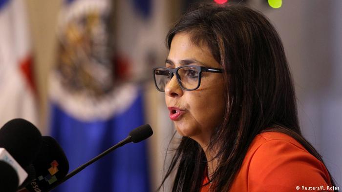 Dominikanische Republik OAS - Venezuela Außenministerin Delcy Rodriguez