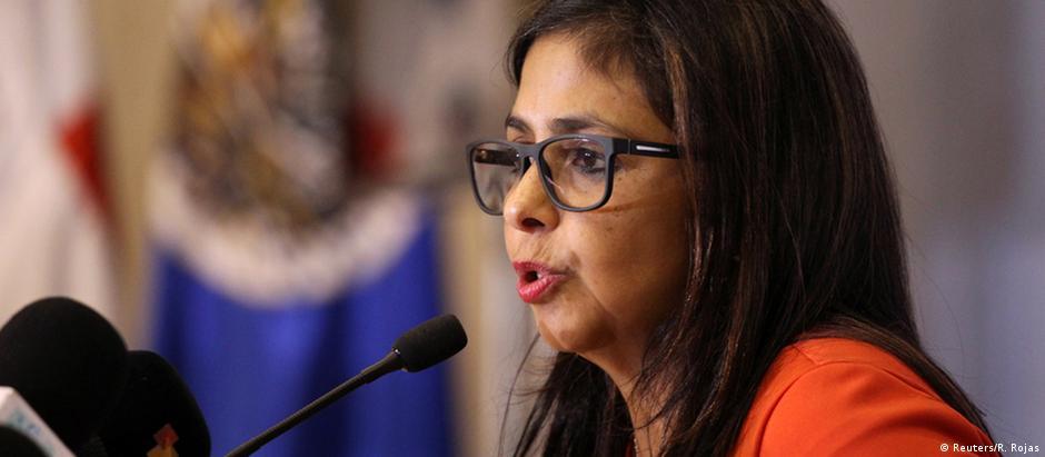 Ministra das Relações Exteriores da Venezuela, Delcy Rodríguez