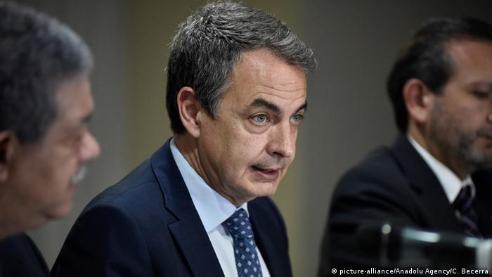 Venezuela - Spaniens Ex-Premierminister Jose Luis Rodriguez Zapatero (picture-alliance/Anadolu Agency/C. Becerra)