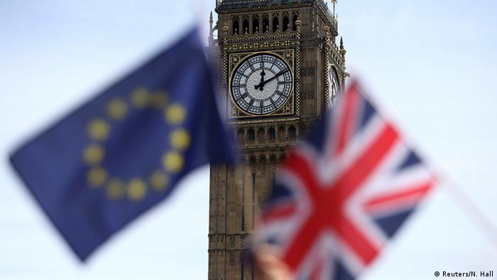 EU, British flags, Big Ben Copyright: Reuters/N. Hall